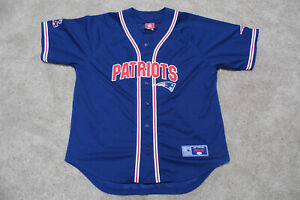 New England Patriots Baseball-Style Jersey. Made by VF Imagewear. Size XL. Used