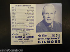 1976 Detroit Lions, University of Michigan, and MSU football schedule