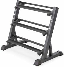 Marcy Dumbbell Weight Rack Stand Storage 3 Tier Metal Steel Home Workout Gym