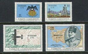31008) TURKEY 1970 MNH** Turkish Cartography 4v