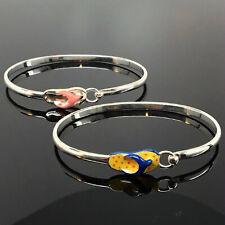 Sterling Silver FLIP FLOP Bangle Bracelet ENAMEL Beach Wedding JEWELRY Gift CUTE