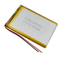 3.7V 6000 mAh Polymer rechargeable Li battery Lipo 906090 For PAD ipod Tablet PC