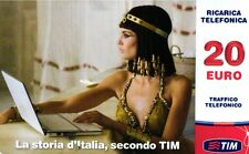 1483 SCHEDA RICARICA TIM USATA STORIA CES20-P 20 GEN.2014 OCR 25 CAB 29