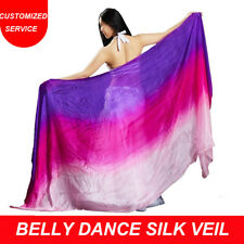 New arrival 100% real silk belly dance veil cheap dance veils for women
