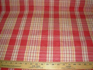 11 6/8 YDS~STROHEIM MOIRE PLAID DRAPERY UPHOLSTERY FABRIC FOR LESS