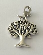 LOVELY TIBETIAN  SILVER TREE OF LIFE -3D - CLIP ON CHARM  -TIBETIAN SILVER - NEW