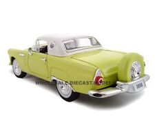 1956 FORD THUNDERBIRD YELLOW 1:24 DIECAST MODEL CAR BY UNIQUE REPLICAS 18508