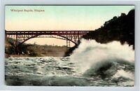 Niagara Falls NY, Great Whirlpool Rapids, Bridge, Vintage New York Postcard A68