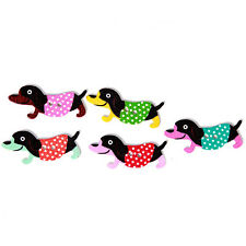 250pcs Wholesale Mixed Random Color Dots Cartoon Dogs Wooden Sewing Buttons D
