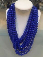 NWOT Multi Strand Blue Faceted Bead Statement Necklace Anthropologie