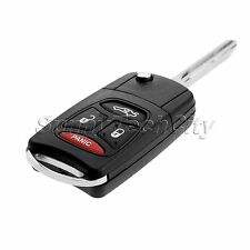Car Flip Remote Key Shell 3 + 1 Panic Buttons for Dodge Chrysler Jeep Mitsubishi