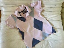 H&M ❤️Gr.122/128 Poloshirt Polo Rosa Blau T-Shirt Weiß College Style