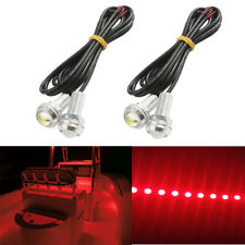 4x Red LED Boat Light Waterproof 12v Outrigger Transom Underwater Loadrite