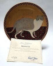 Lenox Warren Kimble Cat Collection Welcome Cat 1995 Folk Art Designed Plate