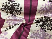 BEAUTIFUL PURPLE POLYESTER SATIN FIRE RESISTANT CURTAIN FABRIC 8 METRES