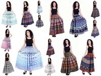 Womens Boho Mandala Party Maxi Skirt Beach Long Casual Skirt Waist Dress Indian