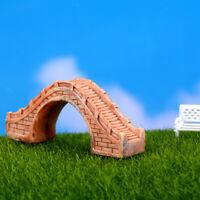 Yellow Mini Pedestrian Footbridge Garden Bonsai Terrarium DIY Decor Figurine