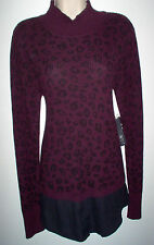 WOMENS SWEATER TOP XL MULTI COLOR LONG SLEEVE LAYERED APT. 9  NEW w/TAGS