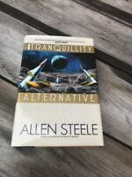 1996 Allen Steele Tranquility Alternative 1st Book Rare Signed SF HC DJ Sci Fi
