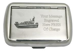 Lifeboat Tobacco Tin Stainless Steel Personalised Smokers Gift 430