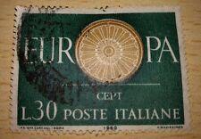 FRANCOBOLLO POSTE ITALIANE - EUROPA CEPT . L.30 . 1960 VIAGGIATO