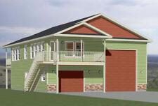 36x40 Apartment with 1-Car 1-RV Garage -- PDF Floor Plan -- 902 sqft -- Model 1H
