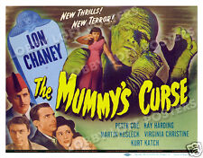 THE MUMMY'S CURSE  LOBBY TITLE CARD POSTER 1944 LON CHANEY JR VIRGINIA CHRISTINE