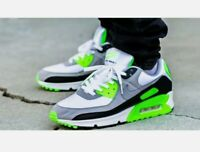 Nike Air Max 90 Recraft Lime White New Shoes CW5458-100 Mens Size 7.5