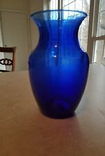 Cobalt Blue Vase Decorative Centerpiece Glass Flower Holder Wedding Home Decor