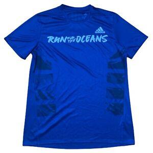 Adidas Climalite Energy Running Navy Blue Athletic Short Sleeve Shirt  Size M