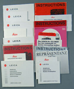 LEICA BROCHURES MOSTLY INSTRUCTIONS