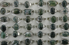 Wholesale Jewelry Mixed Lots 60pcs Lady's Natural Stone Fashion Silver P Rings