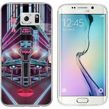 Case für Samsung Galaxy S6 Edge Silikon-Hülle Retro Wave Cyberpunk.02 M5 Case