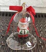 "Jasco Lil Chimers Crystal Bell Tree Ornaments Christmas Santa 3 1/2"" Vintage"