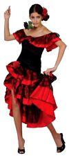 Adult SPANISH SENORITA Dancer Fancy Dress Ladies Flamenco Outfit UK Sizes 10-24