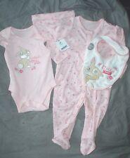 pyjama body bavoir bonnet   neufs disney miss bunny amie de panpan taille 3-6