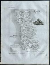 Manche - 1830 - Carte du département - Atlas Michel, Lorrain - Gravure