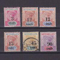 SEYCHELLES 1893, SG# 15-21, CV £130, part set, MH/NG/Used