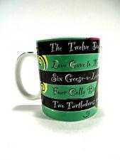Starbucks Coffee Mug Cup Green Black The Twelve Days of Christmas 12 floz