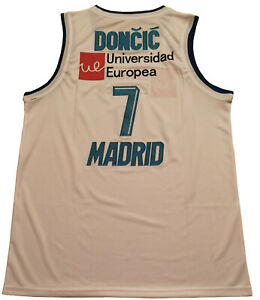 Large Luka Doncic Real Madrid National Basketball Jersey Men Adult Stitched