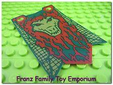 New LEGO Flag 5x8 Crocodile Banner Green/Dark Red Plastic Chima Part Piece