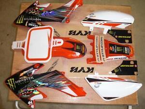 Pit Bike Honda Crf 50 Graphics/Plastics Honda of Troy Red/w white plates 04-19