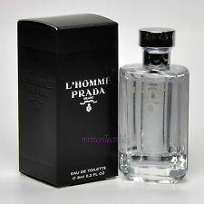 PRADA L'HOMME Eau de Toilette for Men 9 ml Miniature Bottle Mini Perfume NIB