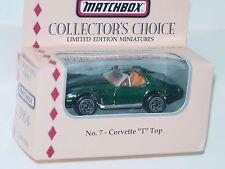 "MATCHBOX COLLECTOR'S CHOICE NO. 7 CORVETTE ""T"" TOP"