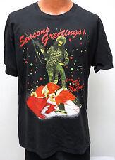 vtg TED NUGENT DEAD SANTA CLAUS t-shirt XL 1990 Whiplash Bash rock concert 90s