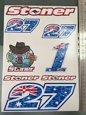 Casey Stoner Stickers Decals  - Large Decal Sticker kit (A4 Size)