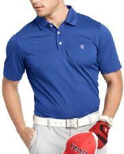 IZOD Men's Golf Polo Shirt Sz M Mazarine Blue Classification Wicking UPF-15