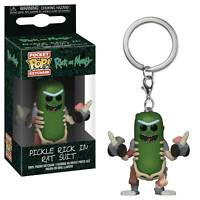 "RICK & MORTY PICKLE RICK IN RAT SUIT 2"" POCKET POP KEYCHAIN VINYL FIGURE FUNKO"