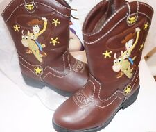 (NEW WITH TAGS) DISNEY TOY STORY COWBOY COWGIRL WOODY UNISEX KIDS BOOTS SHOES 6