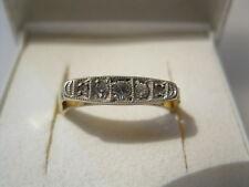 ANTIKER Damenring Ring GOLD 585 3 Diamaten 2 Rosendiamanten Goldring